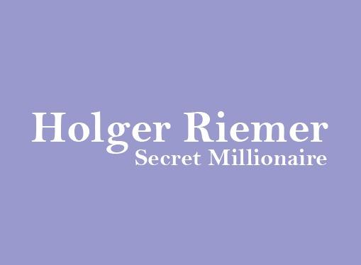 Holger Riemer Secret Millionaire